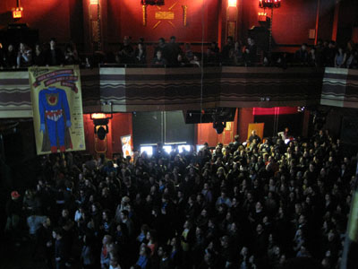 the huge crowd at Webster Hall, NYC